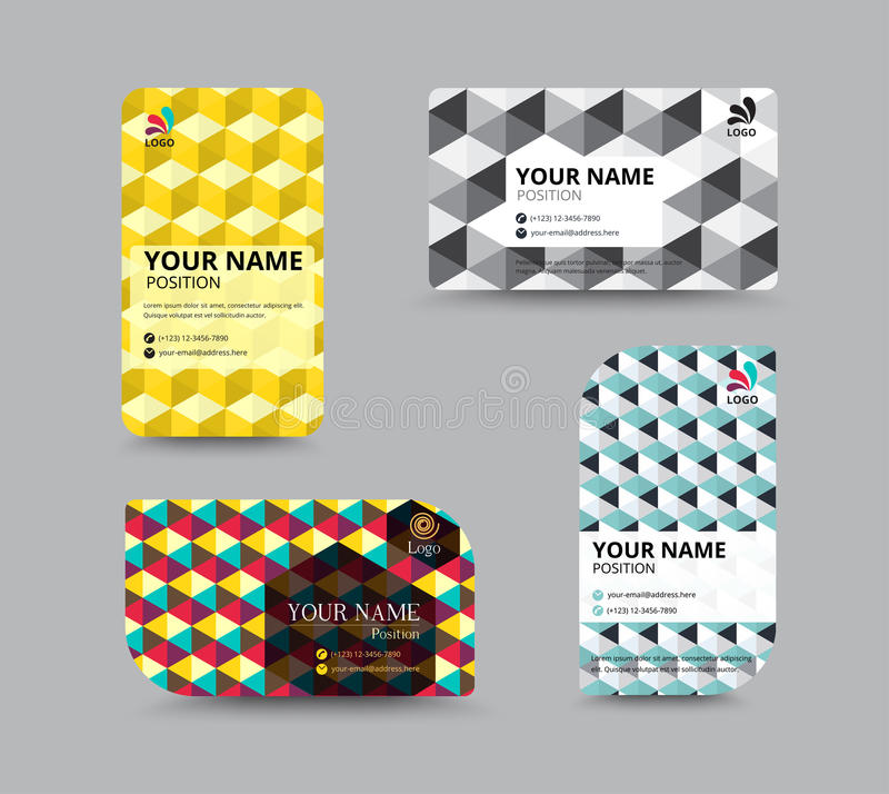 Molde do cartão, projeto da disposição de cartão, illu do vetor ilustração stock
