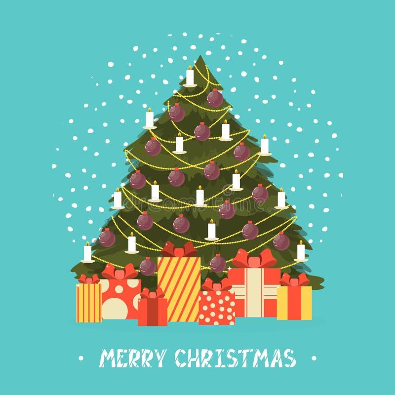 Molde do cartão do projeto do Feliz Natal Vetor imagens de stock royalty free