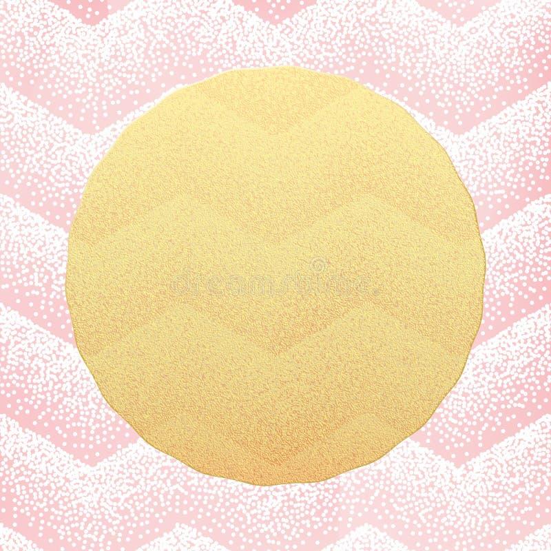 Molde do cart?o Pontilhar o fundo cor-de-rosa dos confetes dos pontos Eps 10 ilustração do vetor