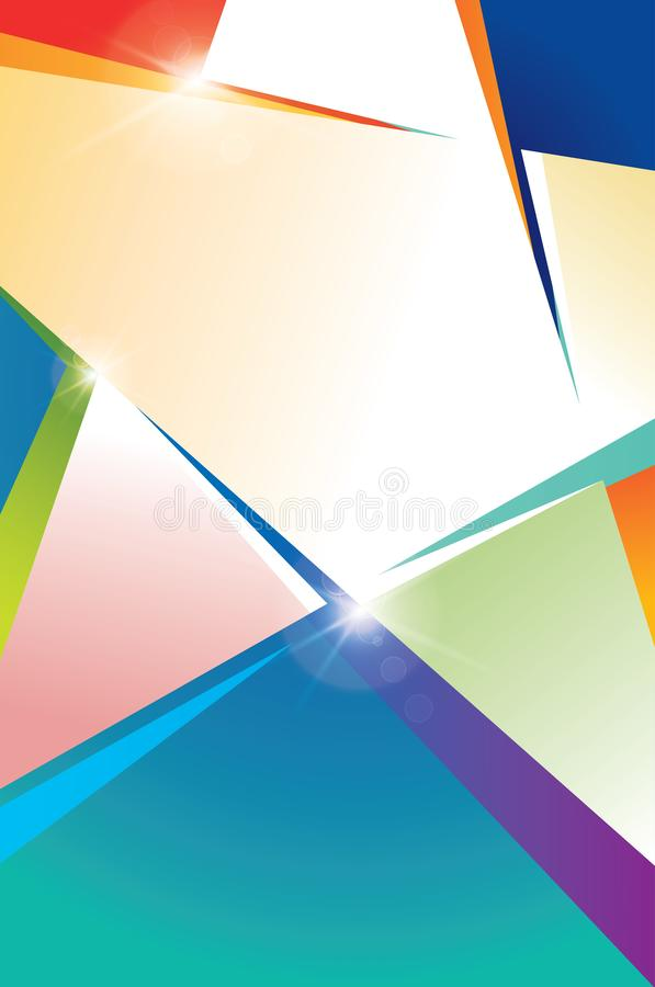 Molde do cartaz com estrelas coloridas imagem de stock royalty free