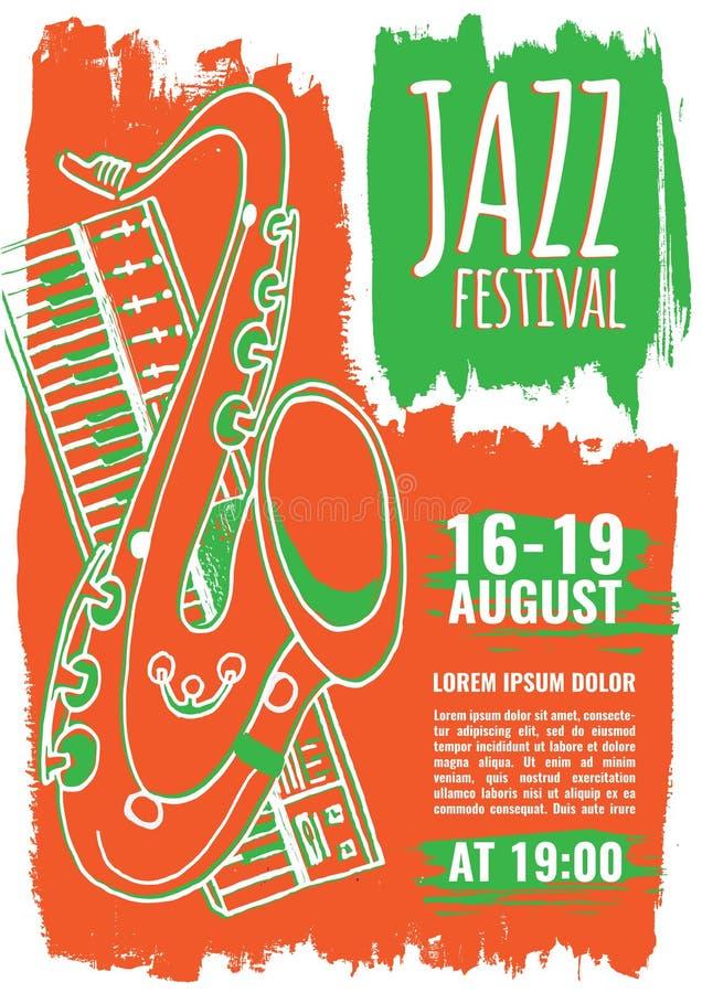 Molde do cartaz da música jazz fotos de stock royalty free