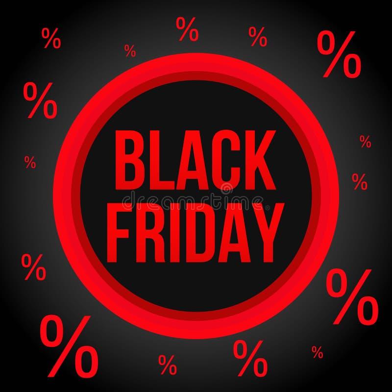 Molde do cartaz da venda de Black Friday no estilo liso ilustração royalty free