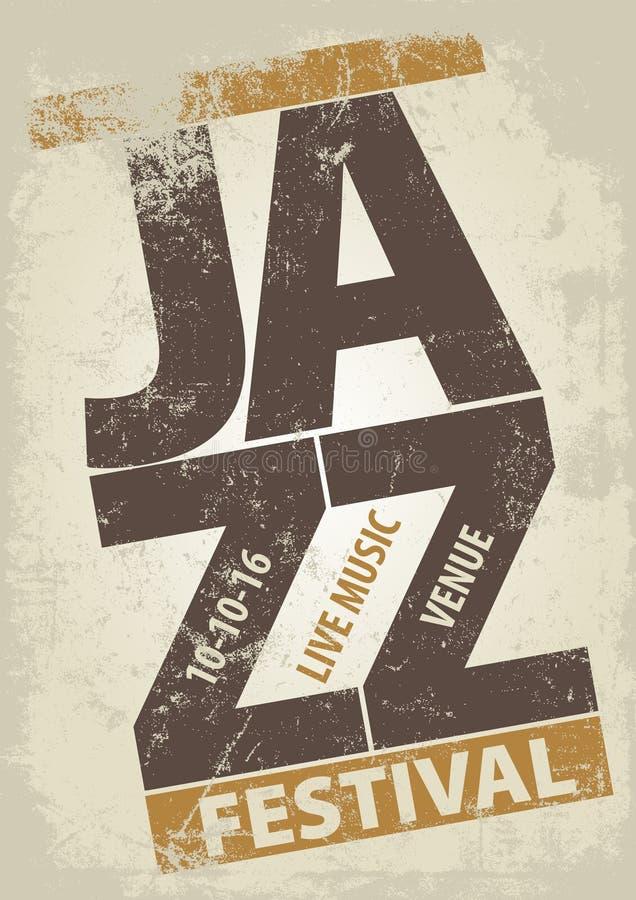Molde do cartaz do festival de jazz ilustração royalty free