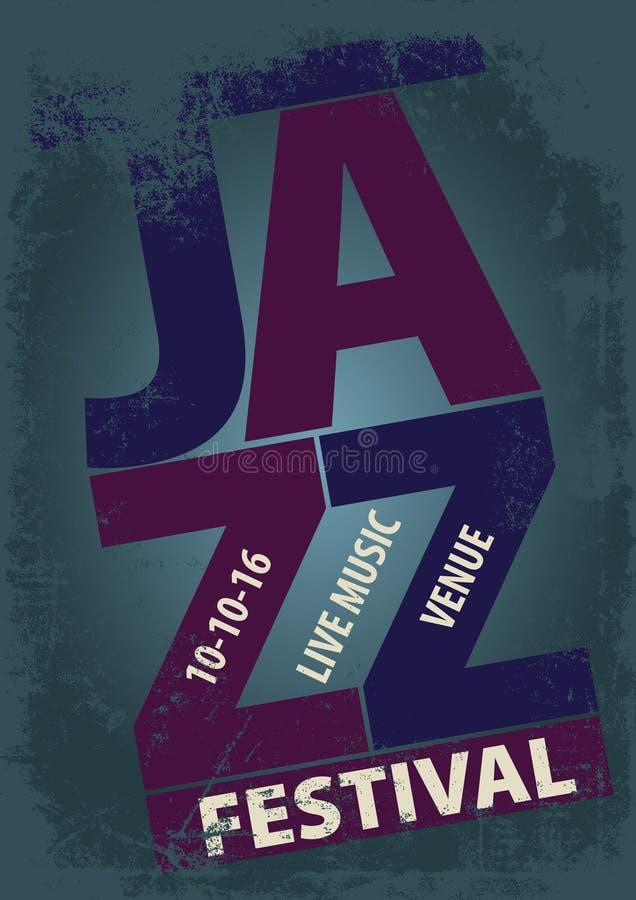 Molde do cartaz do festival de jazz ilustração do vetor