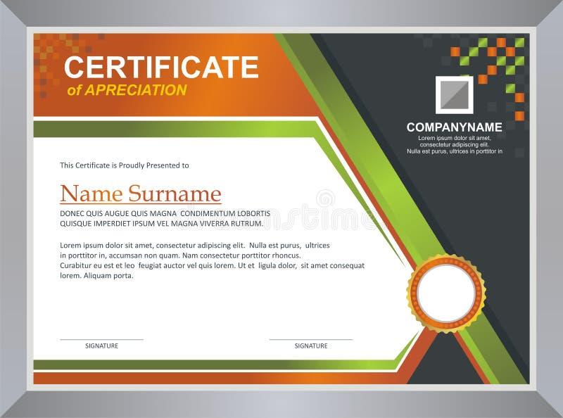 Molde do certificado ilustração stock