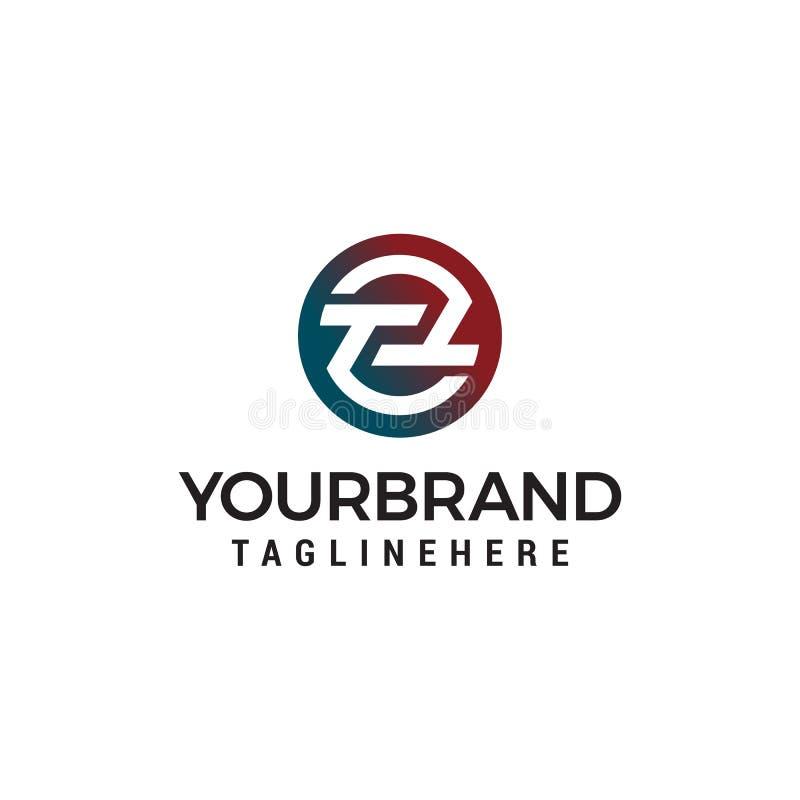 Molde do conceito de projeto do logotipo do círculo do tt da letra ilustração stock