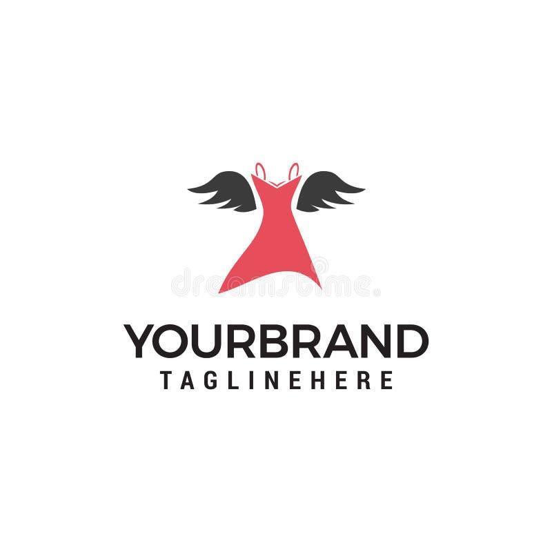 Molde do conceito de projeto do logotipo da roupa das mulheres ilustração royalty free