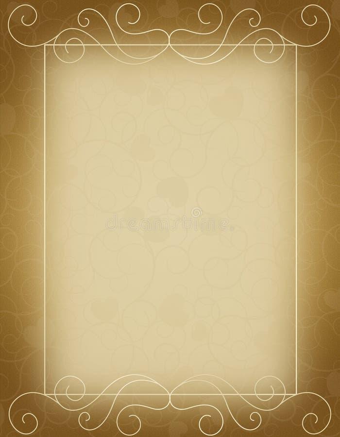 Molde do convite do casamento ilustração do vetor