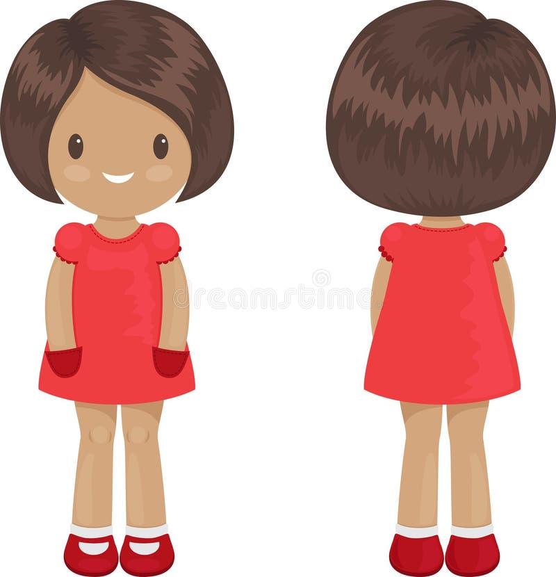 Molde do corpo da menina em um vestido ilustração stock