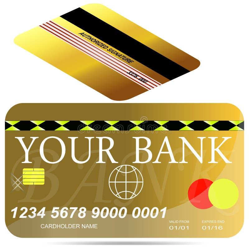 Molde do crédito do cartão. fotografia de stock royalty free