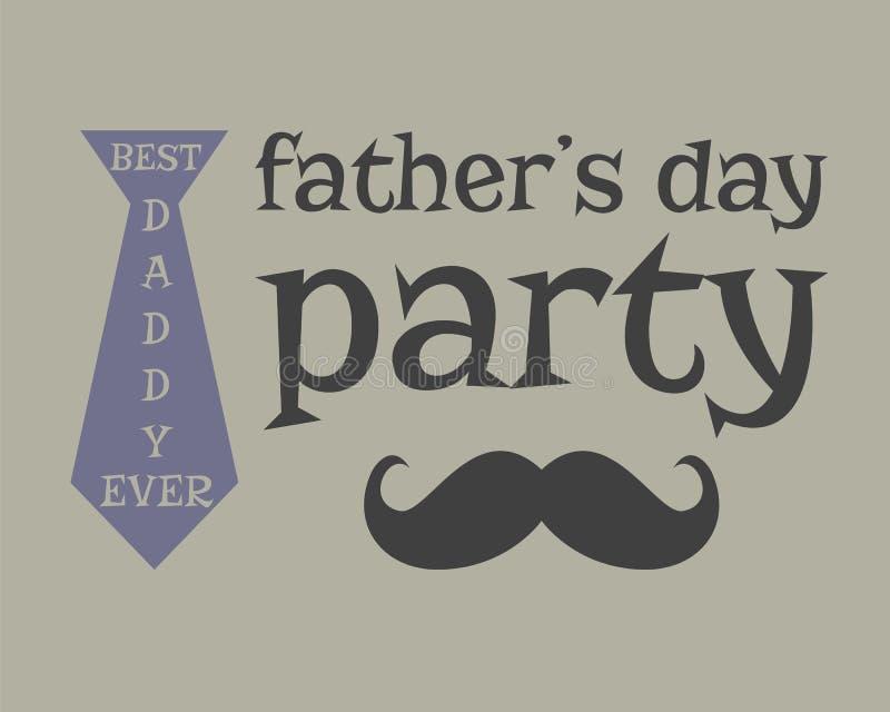 Molde do cumprimento do dia do pai s mustache incomun ilustração royalty free