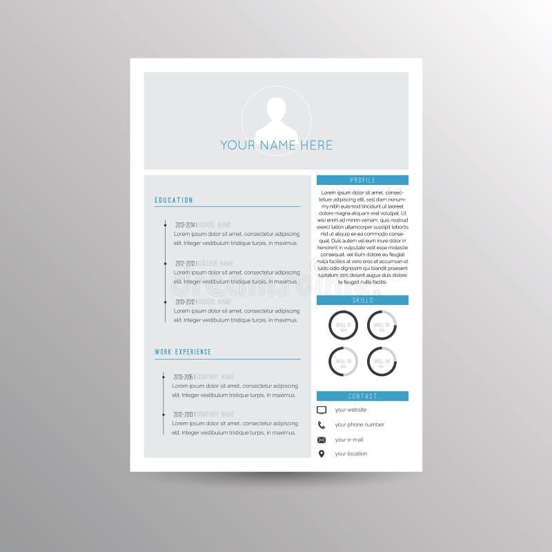 Molde do Cv/resumo ilustração stock