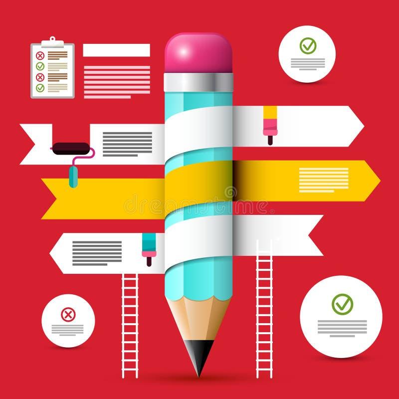 Molde do design web Disposição de Infographic do vetor ilustração stock