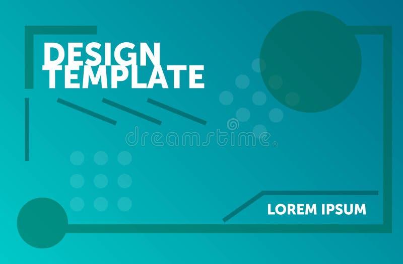 Molde do design web Fundo geom?trico m?nimo Composi??o abstrata colorida ilustração do vetor