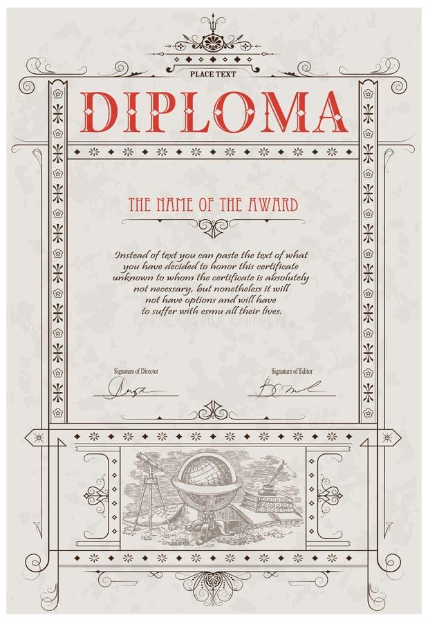 Molde do diploma ilustração royalty free