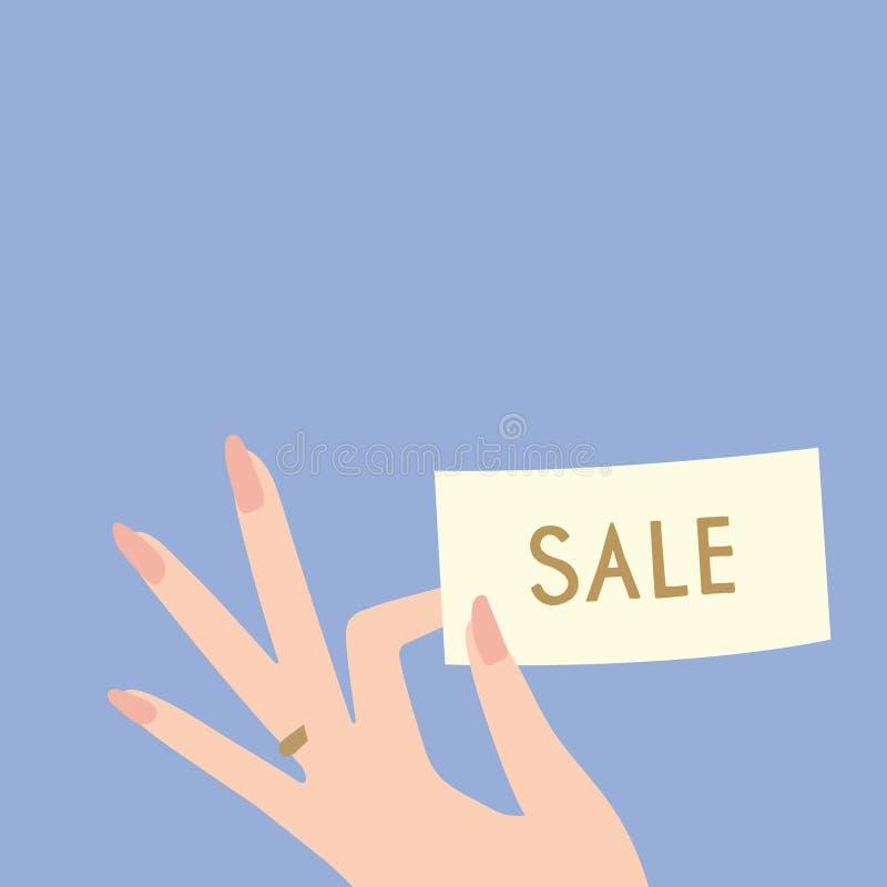 Molde do disconto da venda do vetor fotografia de stock