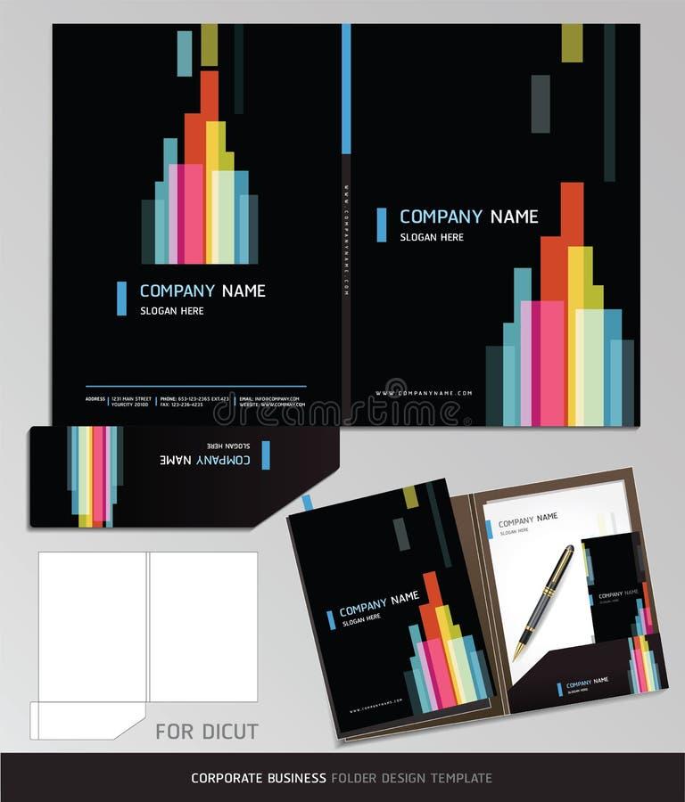 Molde do dobrador do negócio da identidade corporativa. ilustração stock
