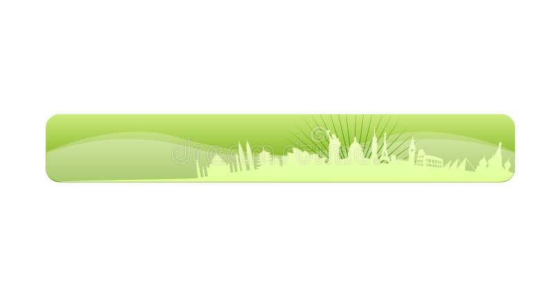 Molde do encabeçamento do Web site do curso ilustração stock