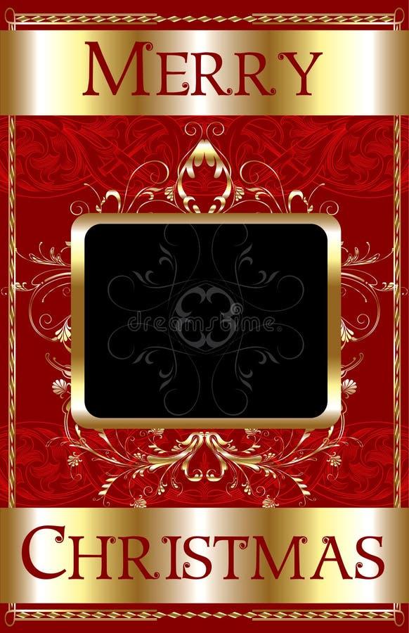 Molde do Feliz Natal ilustração royalty free