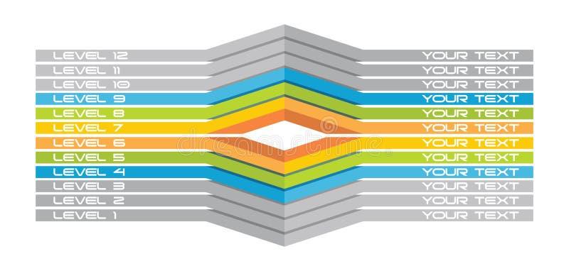 Molde do fluxograma ilustração stock