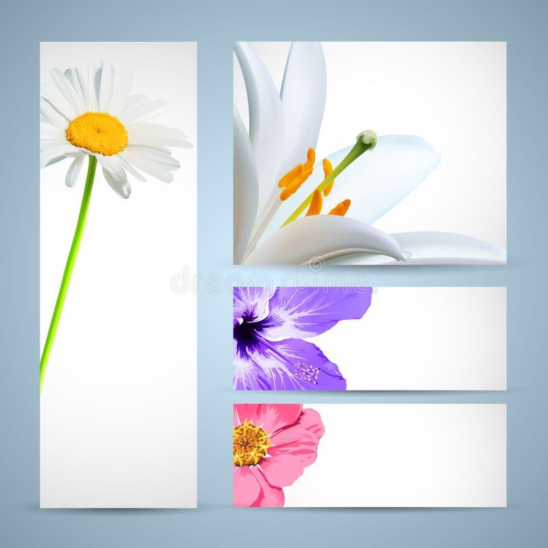 Molde do folheto da flor ilustração do vetor