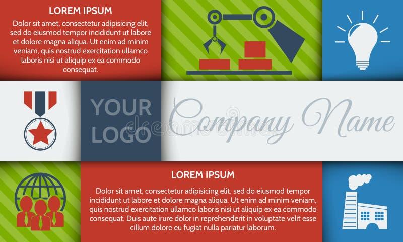 Molde do folheto de Infographic ou bandeira passo a passo do local com ícones integrados ilustração do vetor
