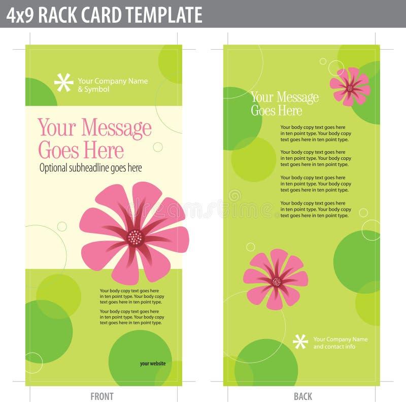 molde do folheto do cartão da cremalheira 4x9 ilustração stock