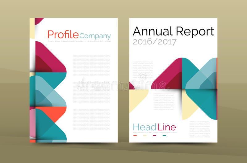 Molde do folheto do perfil da empresa do negócio ilustração stock