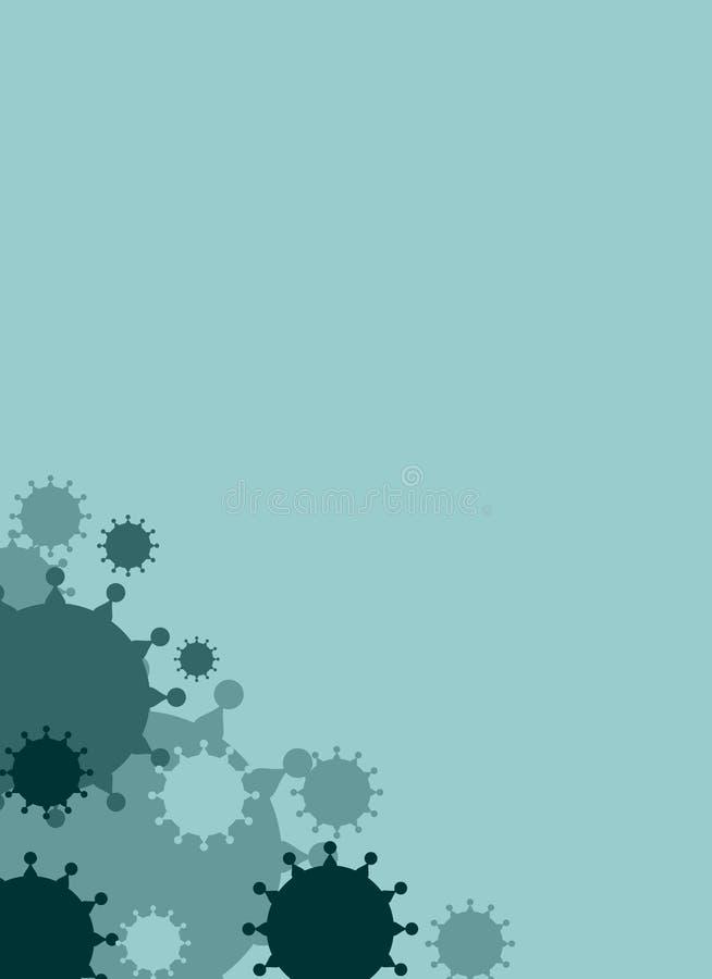 Molde do folheto, do relatório ou do inseto do projeto do vetor Doenças de vírus relativas ilustração do vetor