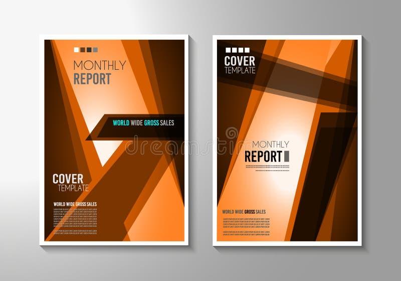 Molde do folheto, projeto do inseto ou tampa de Depliant para o negócio ilustração do vetor