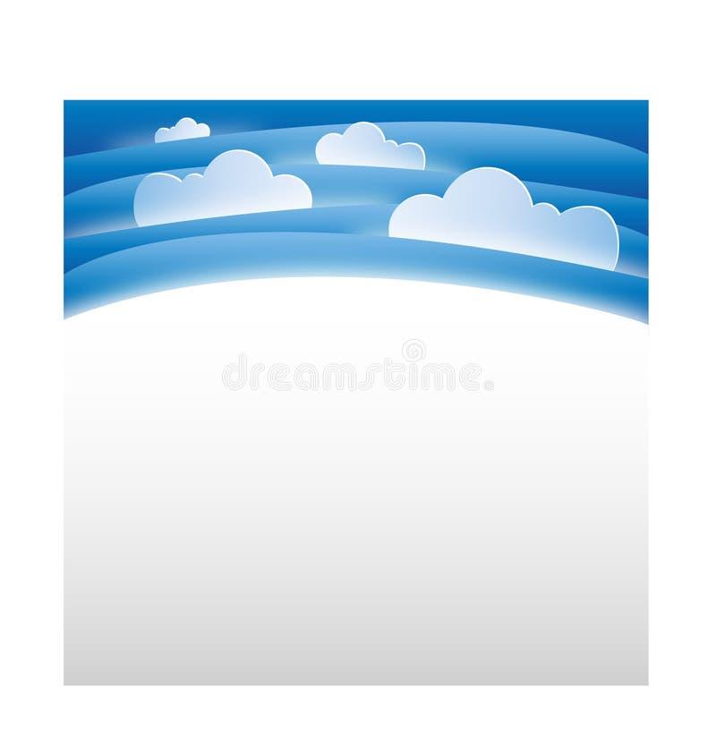 Molde do fundo do céu e das nuvens fotografia de stock