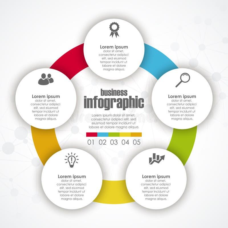 Molde do gráfico da informação do negócio ilustração stock