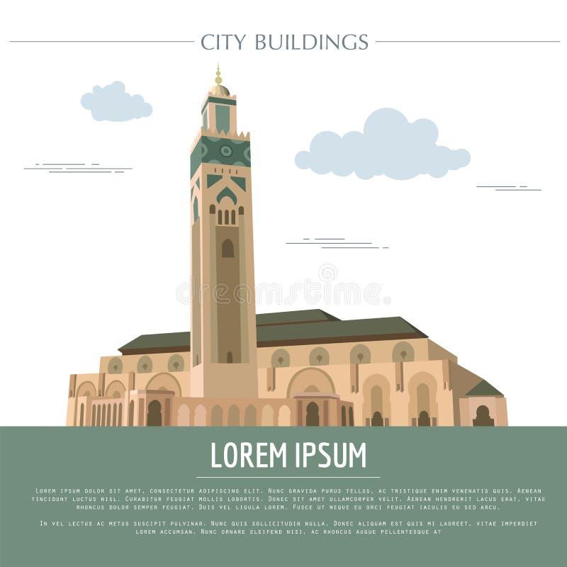 Molde do gráfico das construções da cidade marrocos ilustração do vetor