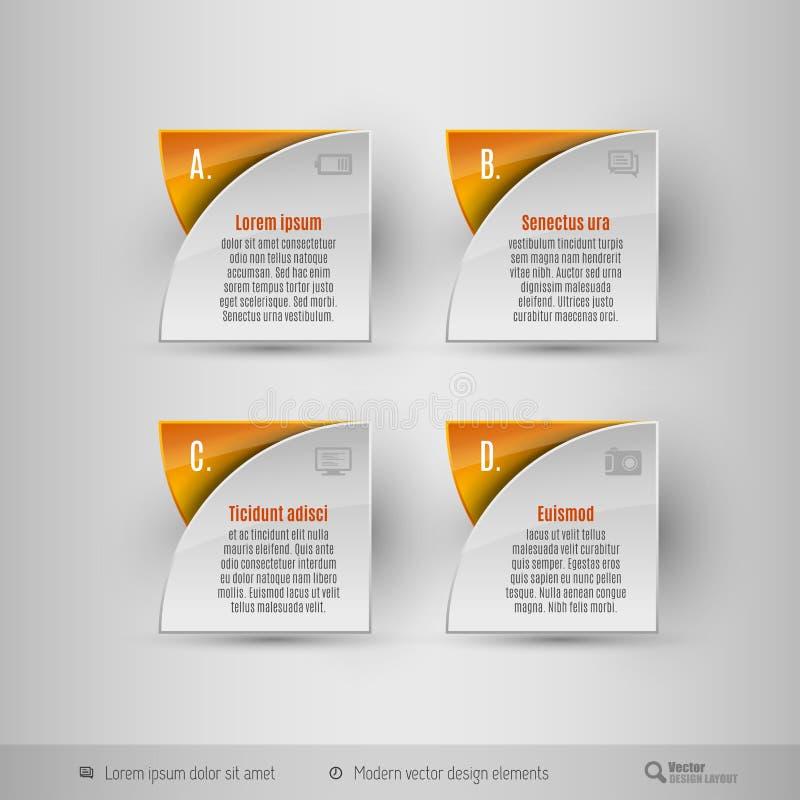 Molde do infographics do negócio Elementos do projeto do vetor ilustração stock