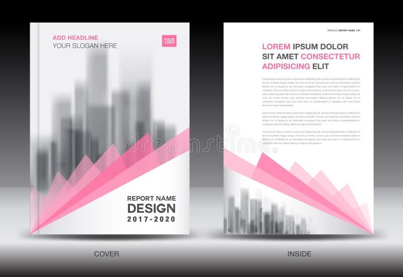 Molde do inseto do folheto do informe anual, projeto cor-de-rosa da tampa ilustração do vetor