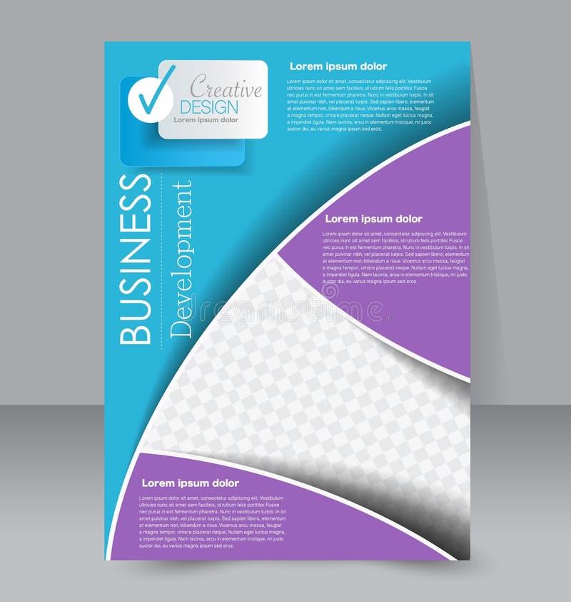 Molde do inseto Folheto do negócio Cartaz A4 editável para o projeto ilustração do vetor