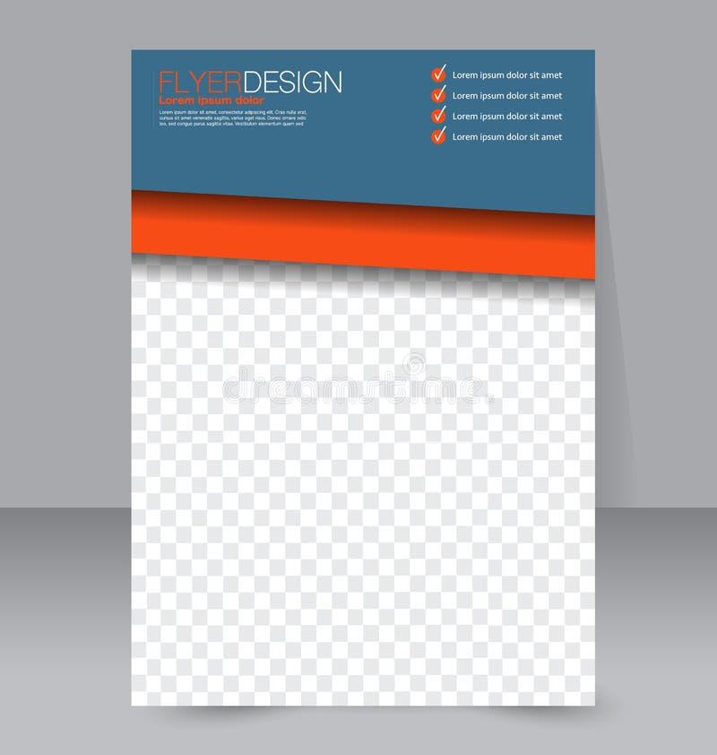 Molde do inseto Folheto do negócio Cartaz A4 editável para o projeto ilustração stock