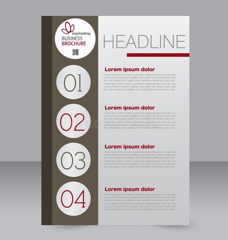 Molde do inseto Folheto do negócio Cartaz A4 editável para o projeto ilustração royalty free