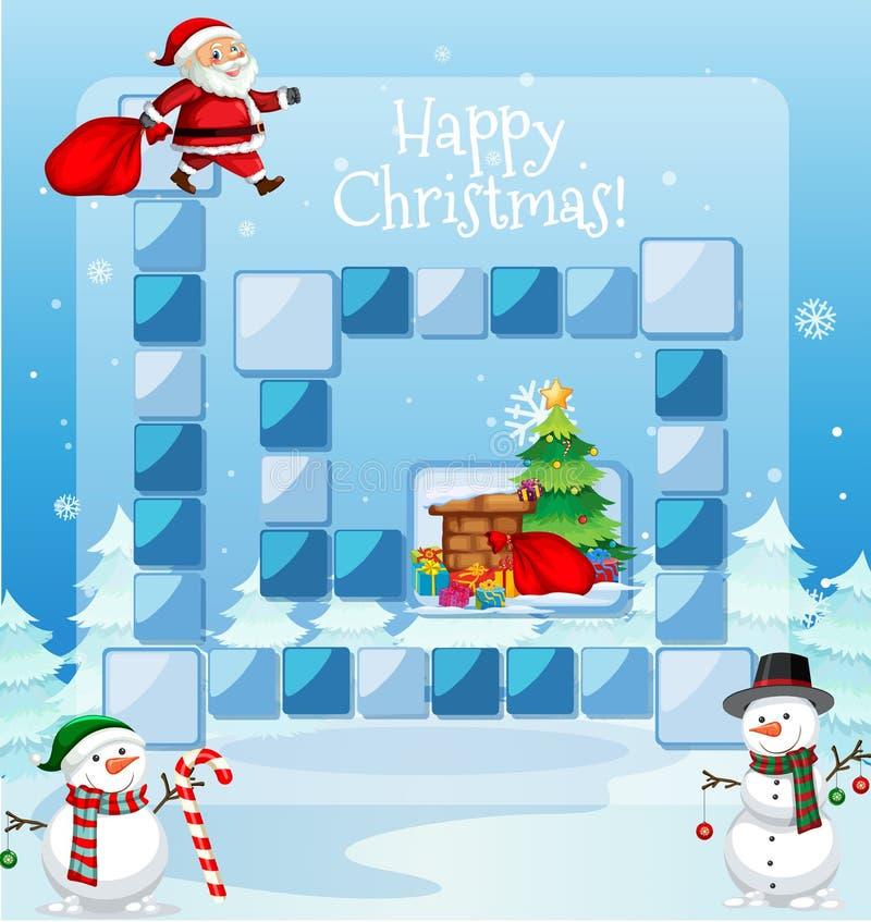 Molde do jogo do Natal feliz ilustração royalty free