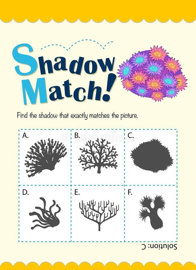 Molde do jogo para o coral de harmonização da sombra ilustração do vetor