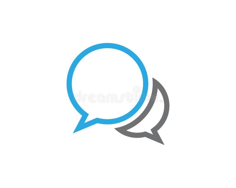 Molde do logotipo do ícone da bolha do discurso ilustração stock