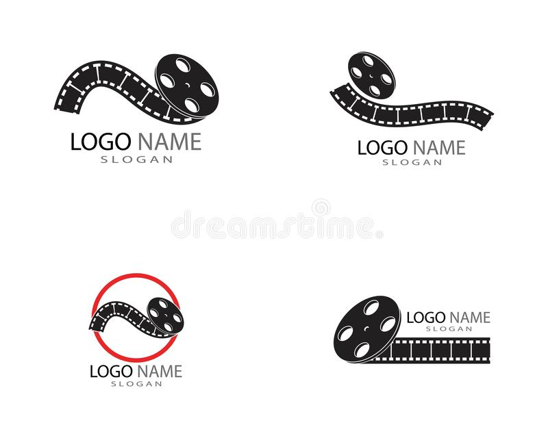 Molde do logotipo do ícone da tira do filme ilustração royalty free