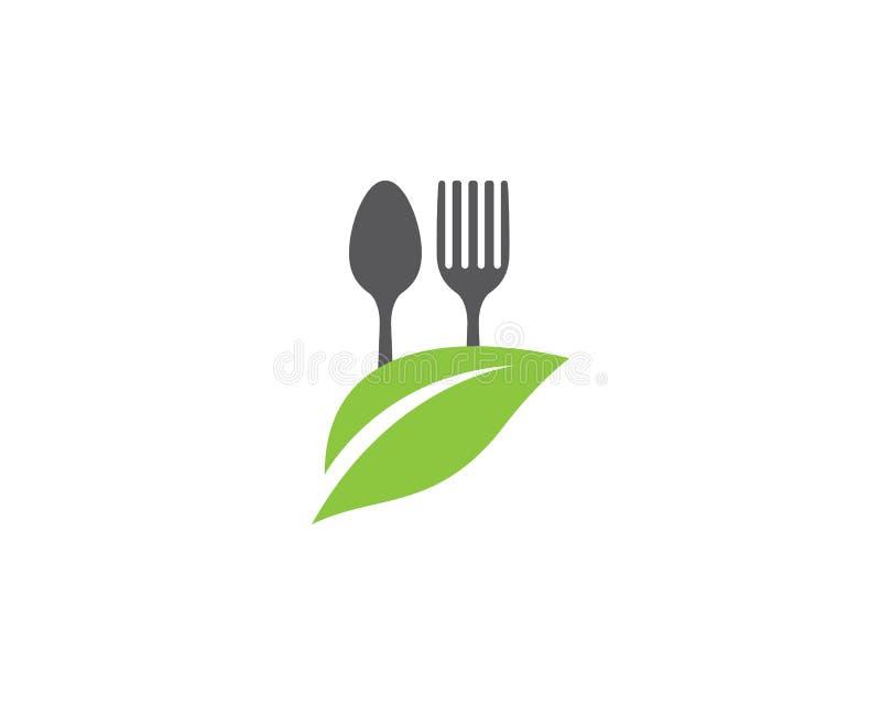 Molde do logotipo do alimento biológico ilustração stock