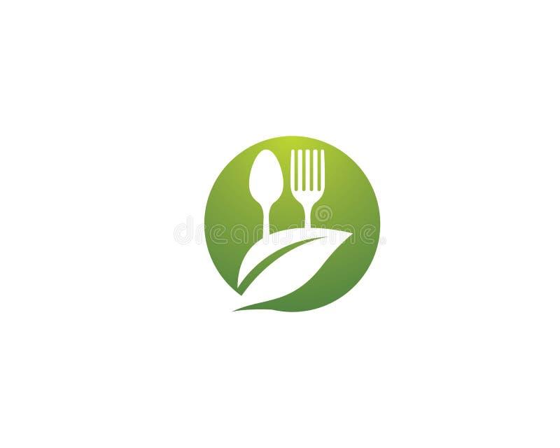 Molde do logotipo do alimento biológico ilustração royalty free