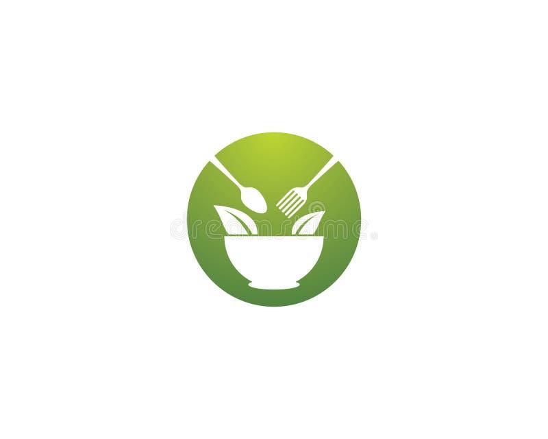 Molde do logotipo do alimento biológico ilustração do vetor