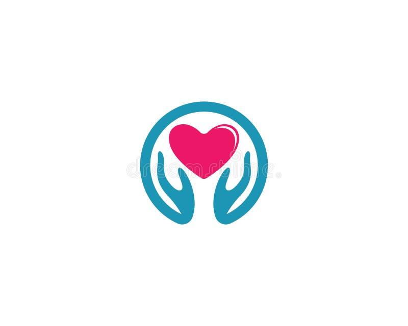Molde do logotipo do amor ilustração stock
