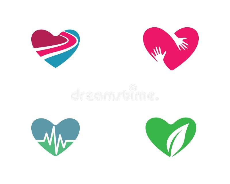 Molde do logotipo do amor ilustração royalty free