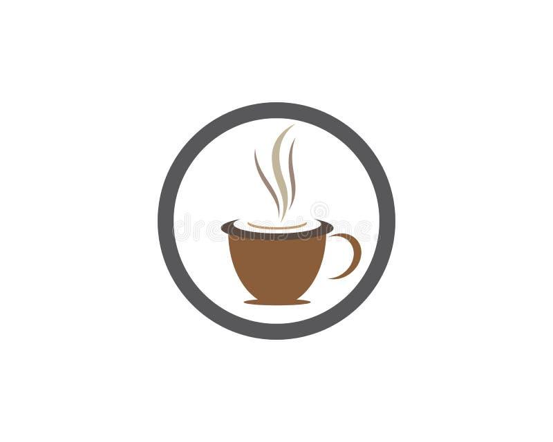 Molde do logotipo do copo de caf? ilustração do vetor