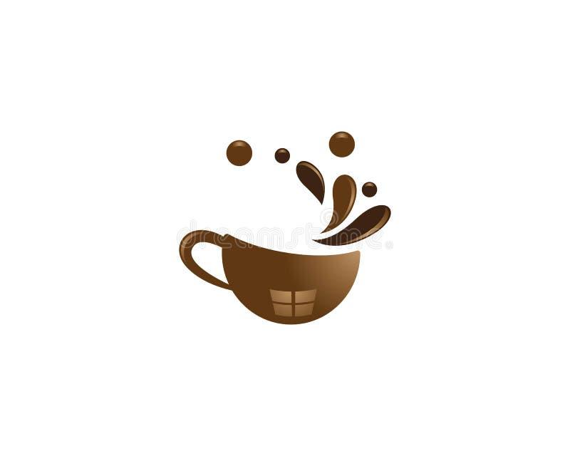 Molde do logotipo do copo de caf? ilustração stock