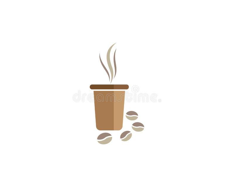 Molde do logotipo do copo de caf? ilustração royalty free